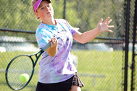 Trojans girls roll to tennis sectional win