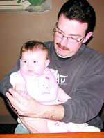 Brian Mulry and his 6 month old daughter, Alyson--His wife,April, died in a fatal car crash last Sept.