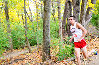 Center Grove runner competing in cross-country showcase