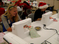 Students craft Christmas stockings for troops