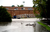 Franklin opens shelter, watches flooded roads