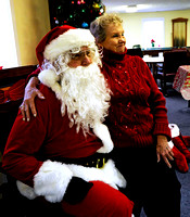 Photo Gallery - Hanging out with Santa Claus
