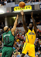 Bynum impressive in debut as Pacers down pesky Celtics
