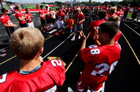 Center Grove football team tackles project for special needs kids