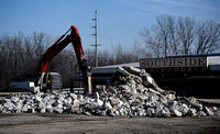 Strip mall demolition under way, creek improvements planned